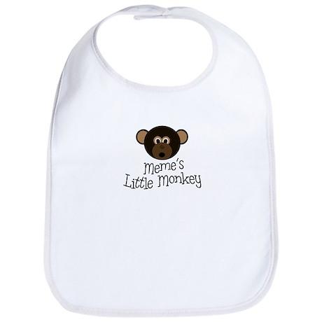 Meme's Little Monkey BOY Bib