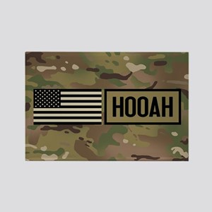 U.S. Army: Hooah (Camo) Rectangle Magnet