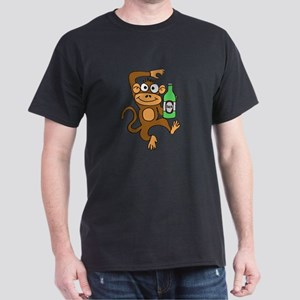 Funny Monkey Drinking Beer T-Shirt