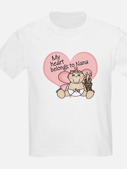 My Heart Belongs to Nana GIRL T-Shirt