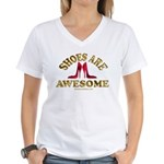 Shoes are Awesome Women's V-Neck T-Shirt