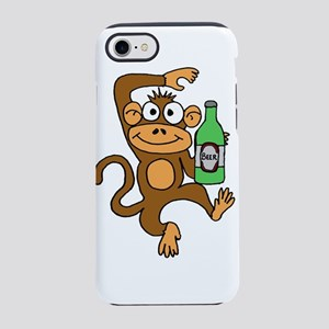 Funny Monkey Drinking Beer iPhone 8/7 Tough Case