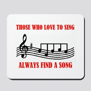 LOVE TO SING Mousepad