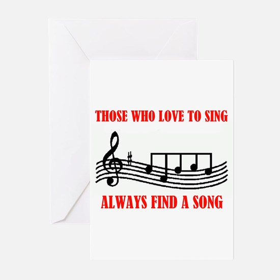 LOVE TO SING Greeting Cards (Pk of 20)