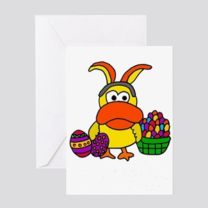 Funny Duck Easter Cartoon Greeting Cards