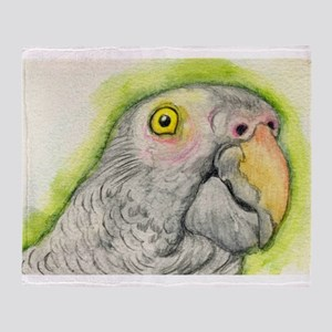 Timneh African Grey Parrot Throw Blanket