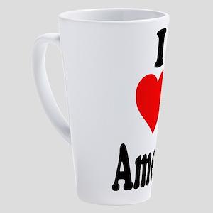 I heart Amelia 17 oz Latte Mug