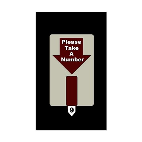 Please Take A Number Rectangle Sticker