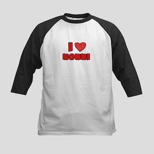 I heart Nonni Kids Baseball Jersey