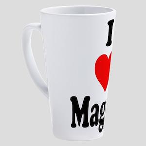 I heart Maggie 17 oz Latte Mug