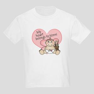 My Heart Belongs to Nonni GIR Kids Light T-Shirt