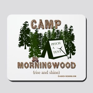 Camp Morning Wood Adult Mousepad