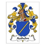 Axthelm Family Crest Small Poster