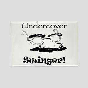 Undercover Swinger! Rectangle Magnet