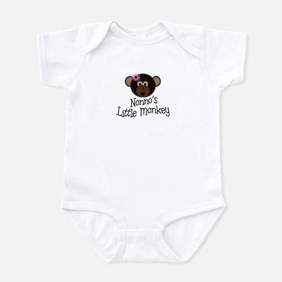 Nonno's Little Monkey GIRL Infant Bodysuit