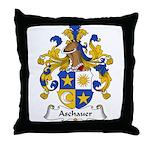 Aschauer Family Crest Throw Pillow