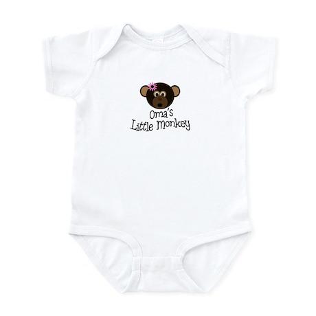 Oma's Little Monkey GIRL Infant Bodysuit