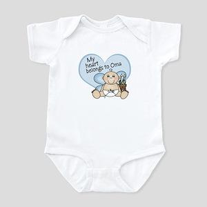 My Heart Belongs to Oma BOY Infant Bodysuit