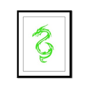Earth Dragon Framed Panel Print