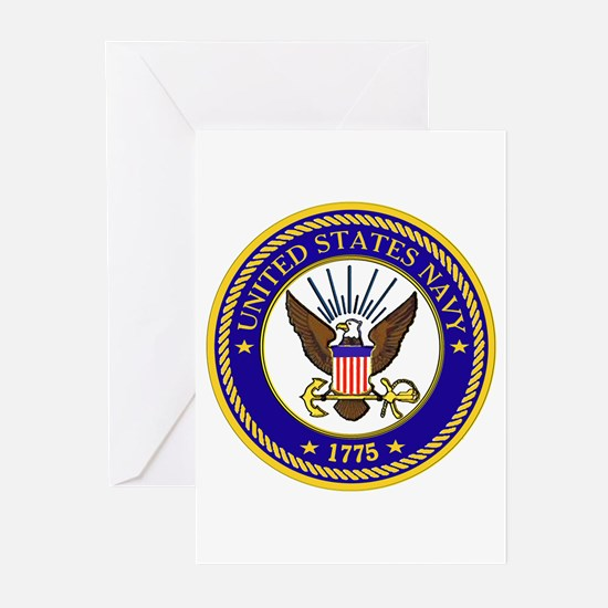 US Navy Emblem Greeting Cards (Pk of 10)