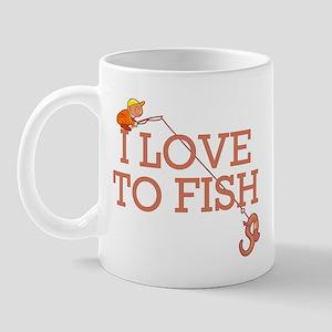 I Love To Fish Mug
