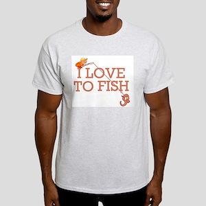 I Love To Fish Light T-Shirt