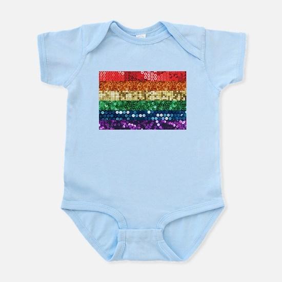 sequin pride flag Body Suit