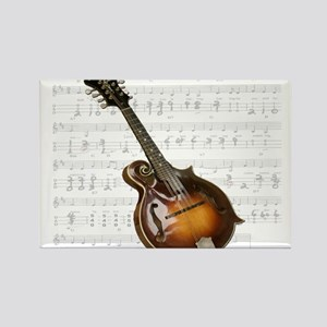 Mandolin and Sweet Music Rectangle Magnet