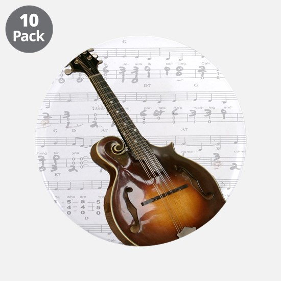 """Mandolin and Sweet Music 3.5"""" Button (10 pack)"""