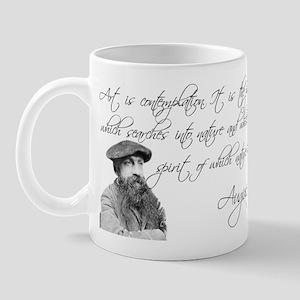 Thinker + Rodin Quote Mug