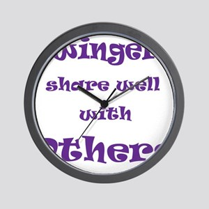 Swingers Share Well With Others Wall Clock