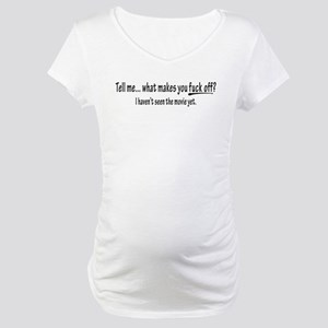 WMYFO? (white) Maternity T-Shirt
