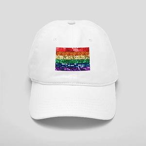 sequin pride flag Cap