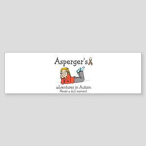 Aspergers adventures in AUTIS Bumper Sticker