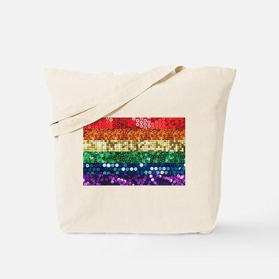 sequin pride flag Tote Bag