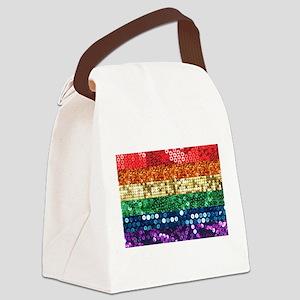 sequin pride flag Canvas Lunch Bag