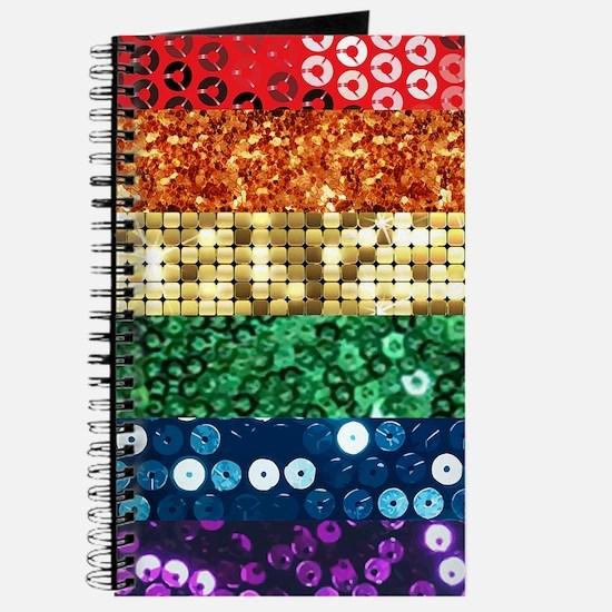 sequin pride flag Journal