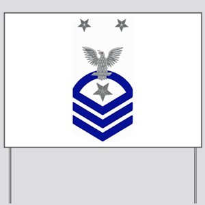 Command Master Chief Blue Yard Sign