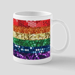sequin pride flag Mugs