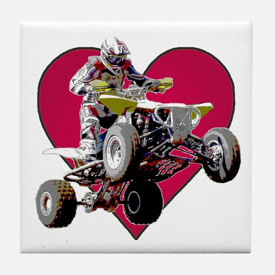 ATV Racing (color) Tile Coaster