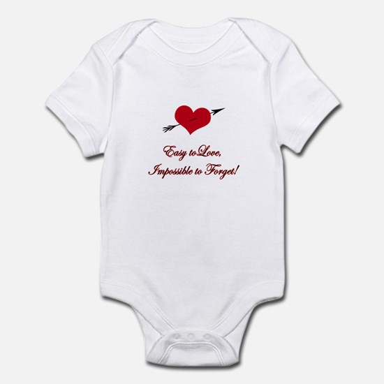 Easy to Love, Impossible to F Infant Bodysuit