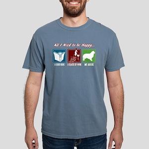Book, Wine, Australian S Mens Comfort Colors Shirt