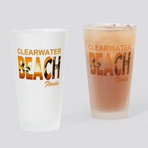 Florida - Clearwater Beach Drinking Glass