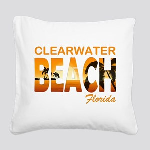 Florida - Clearwater Beach Square Canvas Pillow