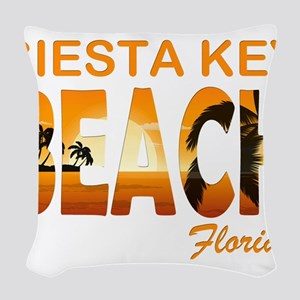 Florida - Siesta Key Beach Woven Throw Pillow