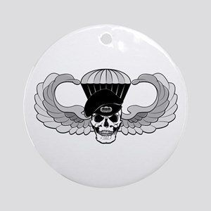 Airborne Jump Wings Ornament (Round)