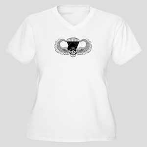 Airborne Jump Wings Women's Plus Size V-Neck T-Shi