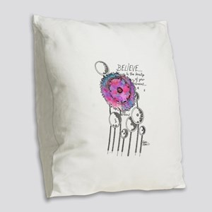Believe in the Beauty of Your Burlap Throw Pillow