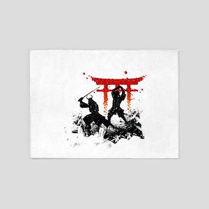 Samurai Duel 5'x7'Area Rug
