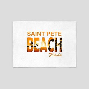 Florida - St. Pete Beach 5'x7'Area Rug